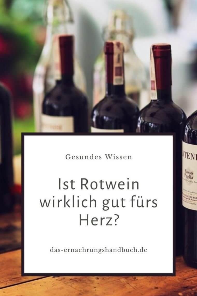 Rotwein gut für Herz?