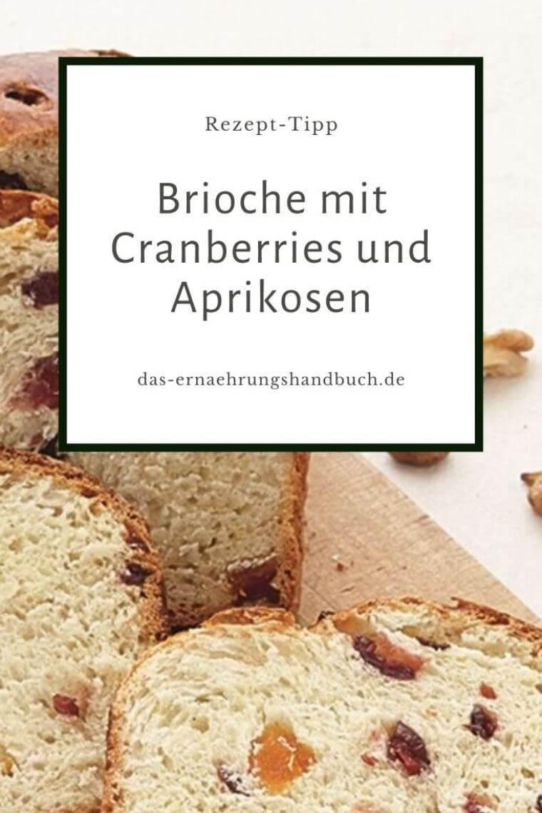 Brioche mit Cranberries und Aprikosen