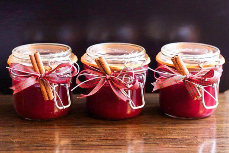 Cranberry-Marmelade mit Zimt