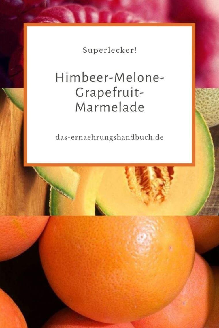 Himbeer-Melone-Grapefruit-Marmelade