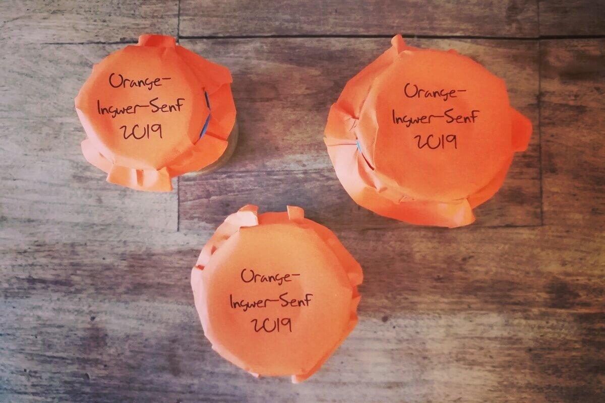 Orangen-Ingwer-Senf